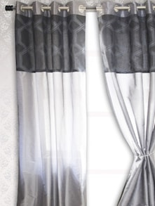 Grey Sheer Door Curtain - HOUSE THIS