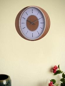 White And Brown Analog Clock - Birde