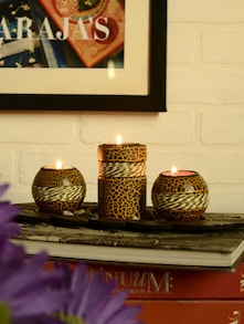 Set Of Three Candle Stand - Birde