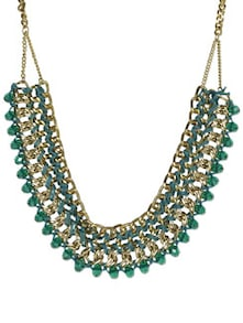 Green Intertwined Statement Necklace - Art Mannia