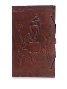 Engraved Leather Journal - Pulpypapaya
