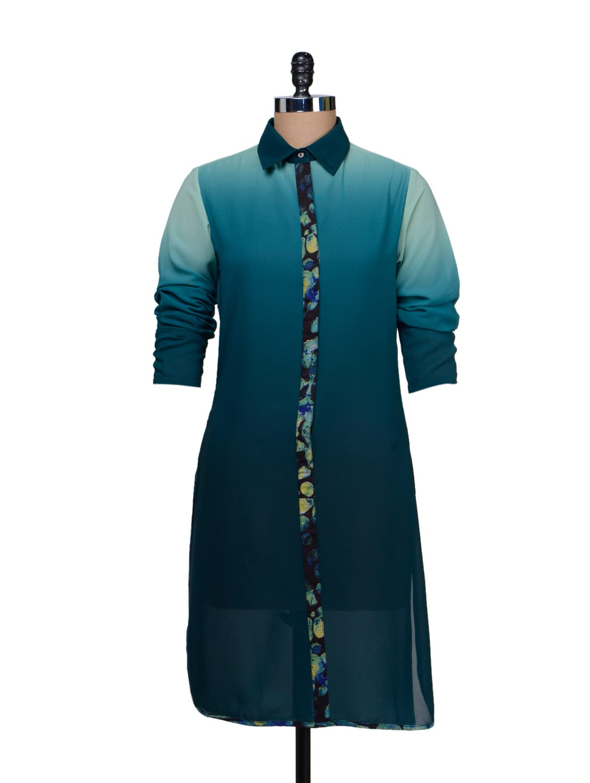 Ombre Shirt Dress - HERMOSEAR