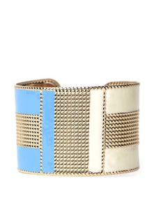Statement Cuff In Blue And Gold - Fayon