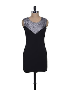 Black & Silver Party Dress - Reen's