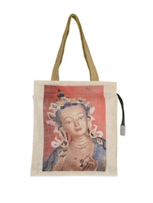 Vintage Print Jute Bag - The House Of Tara