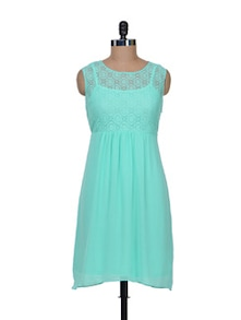 Turquoise Lace Dress - AND