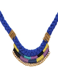 Blue Braided Neckpiece - Blueberry