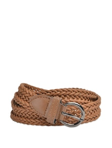 Chic Brown Belt With Silver Buckle - YOUSHINE