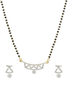 Zigzag Mangalsutra Pendant Set - Vendee Fashion