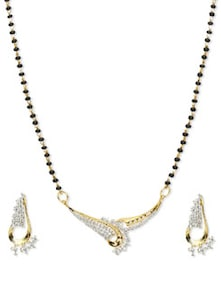 Delicate Mangalsutra Pendant Set - Vendee Fashion