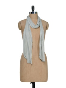 Solid Grey Scarf - J STYLE