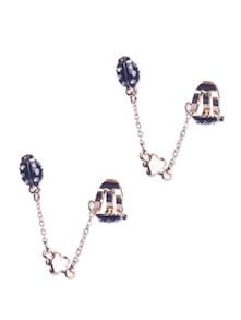 Black Beetle Motif Ear Cuff - Addons