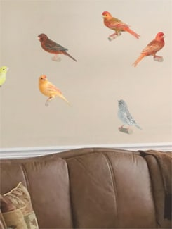 Perched Birds Wall Sticker - Freelance