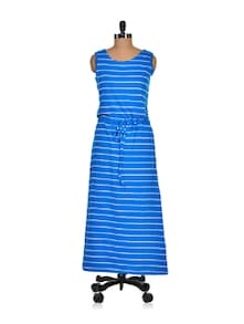 Blue Habour Striped Dress - Color Cocktail