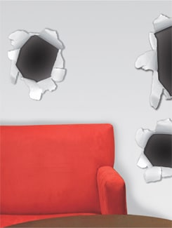 Hole In The Wall Sticker - Freelance