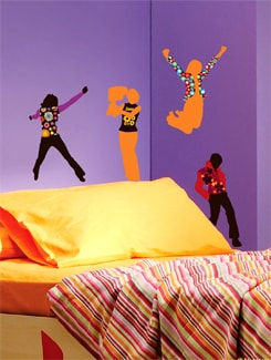Flower Power Dance Wall Sticker - Freelance