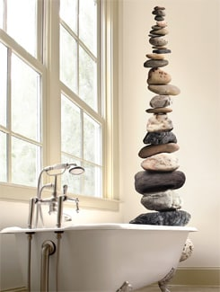 Zen Garden Pebbles Wall Sticker - Freelance