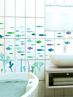 Underwater Life Wall Sticker - Freelance