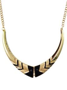 Black & Gold Statement Necklace - DIOVANNI