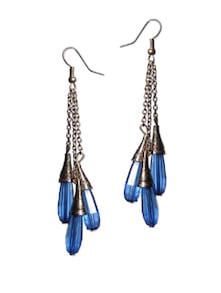 Bright Blue Drop Earrings - Blend Fashion Accessories