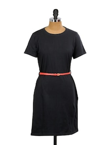 Stretchable T-Shirt Dress - Miss Chase