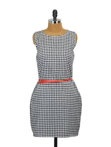 Run The Show Belted Dress - Miss Chase
