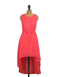Coral Asymmetrical Dress - Miss Chase