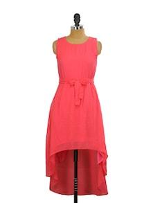 Coral Asymmetrical Dress - Miss Chase