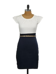 Classic Two Tone Dress - Miss Chase