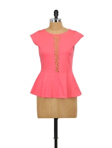 Lace Be Naughty Peplum Top - Miss Chase