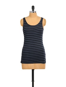 Striped Grey Tank Top - Miss Chase