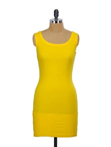 Yellow Bodycon Dress - Miss Chase