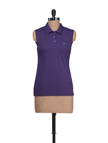 Pretty Purple Casual Polo - CLUB YORK