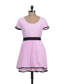 Baby Pink Frock Style Dress - Liebemode