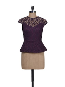 Purple Peplum Top - Liebemode
