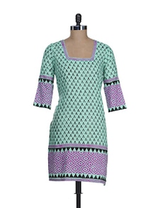 Stylish Sky Blue Printed Kurta - RIYA