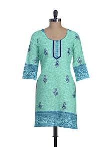 Elegant Blue Printed Kurta - RIYA