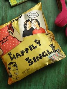 Happily Single Cushion Cover - Bandbox