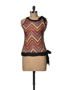 Halter Neck Top With A Tie Up Knot - Ayaany