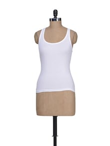 White Cotton Camisole - Lady Lyka
