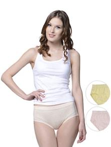 Striped Panties - Peach, Lemon & Pink - Lady Lyka