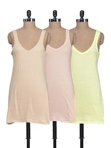 Long Cotton Camisoles - Set Of 3 - Lady Lyka