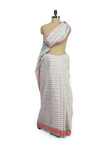 Striped Cotton Saree - Aadrika Saree