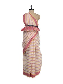 Traditional Striped Saree - Aadrika Saree