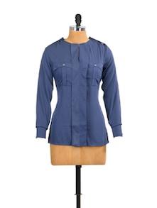 Blue Lady Formal Top - Mishka