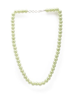 Mint Green Korean Pearl Necklace - Arvokas