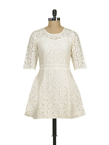 Chic White Lace Dress - Jiiah