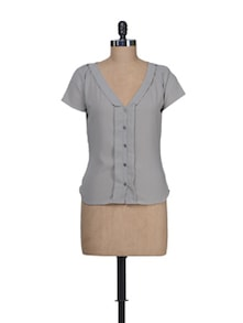 Grey Short Sleeves Shirt - Guster Ve..