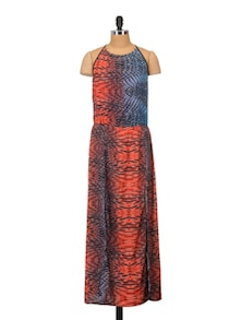 Print Play Red Beach Dress - Crazi Darzi