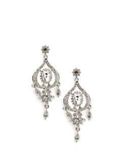Dainty Stone Chandelier Earrings - Arvokas